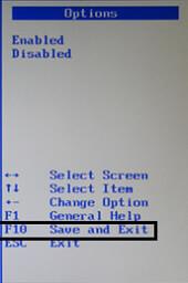 Перезагружаем BIOS через F10