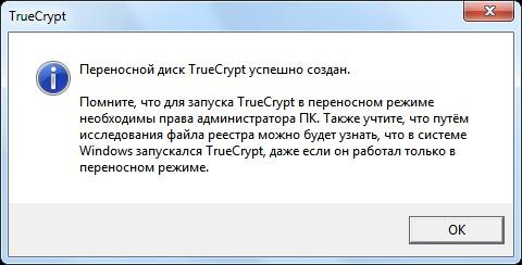 Отчет о создании в TrueCrypt