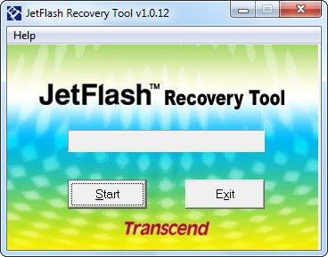 Запуск JetFlash Recovery Tool