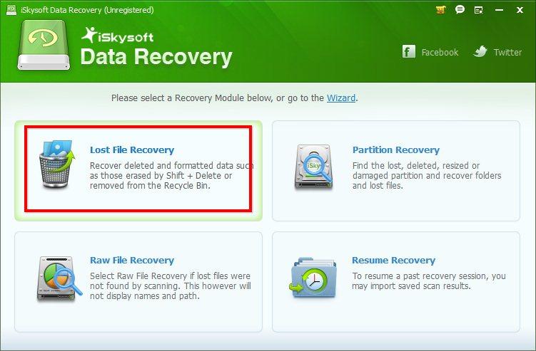 "Жмём кнопку ""Lost File Recovery"""