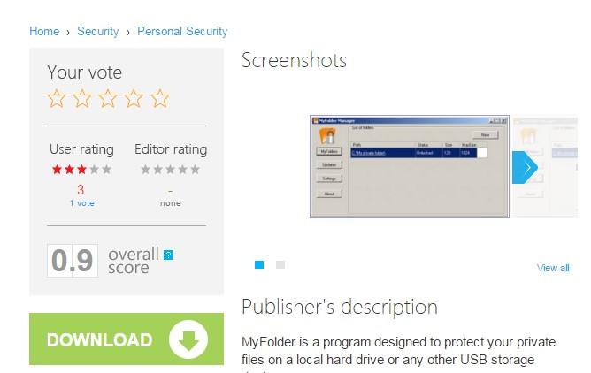 Установка MyFolder