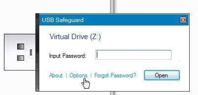 Ввод пароля в Safeguard