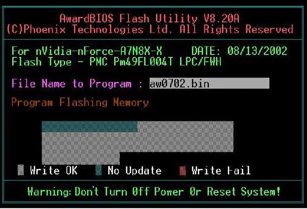 AwardBIOS Flash Utility