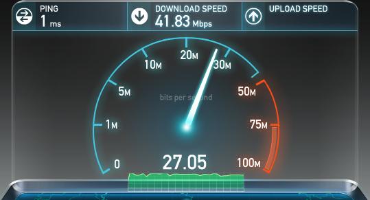 Измерение скорости в speedtest.net