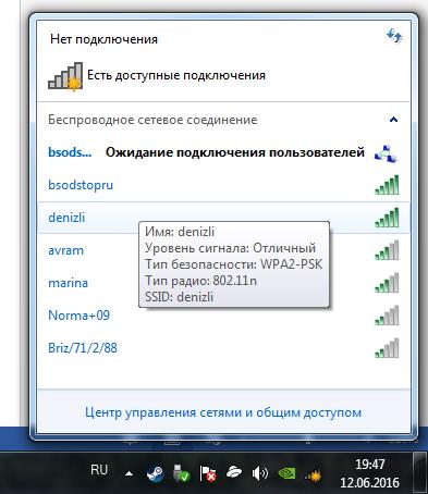 Отображение сети Компьютер-Компьютер в трее