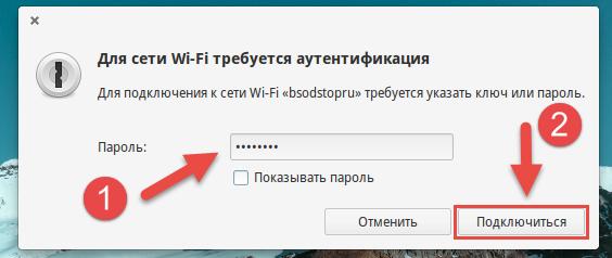Ввод пароля в Linux