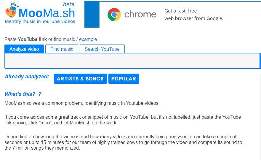 Как определить музыку из YouTube-ролика