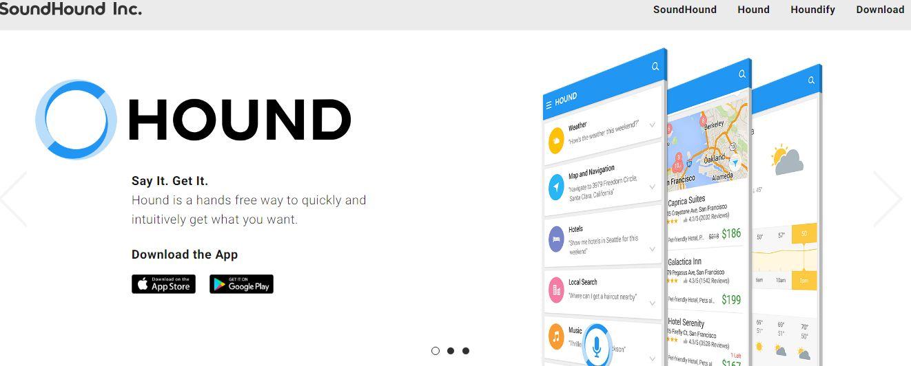 Приложение для мобильных гаджетов SoundHound