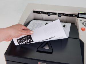 Печать монохромного принтера